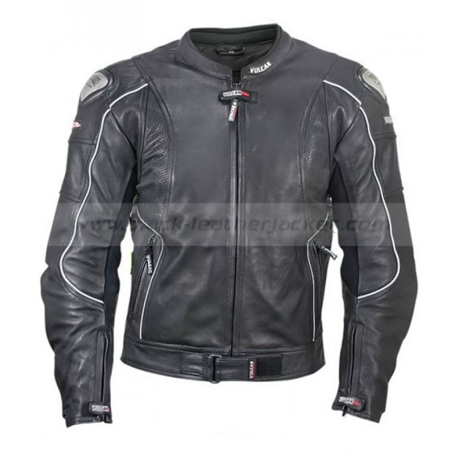 Mens Black Vulcan Jacket | Armored Leather Motorcycle Jacket