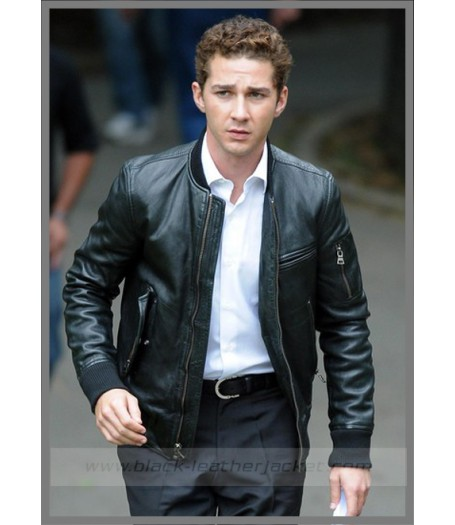Home   Shia Labeouf Black Leather Jacket Wall Street