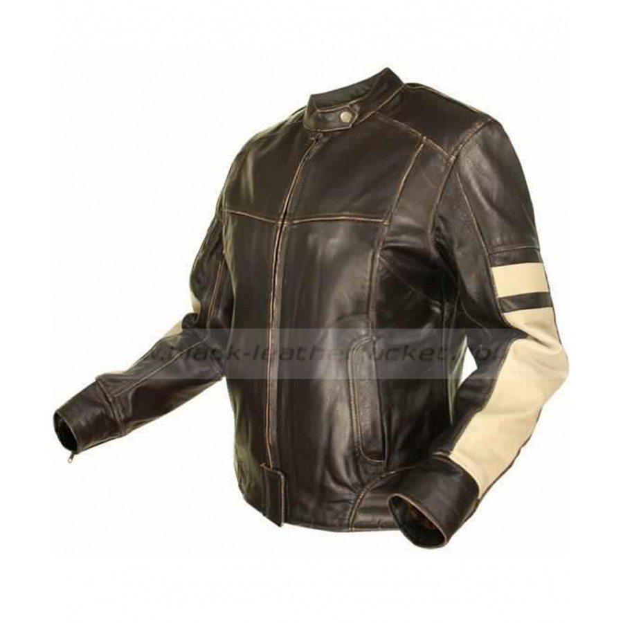 Womens Brown Leather Motorcycle Jacket