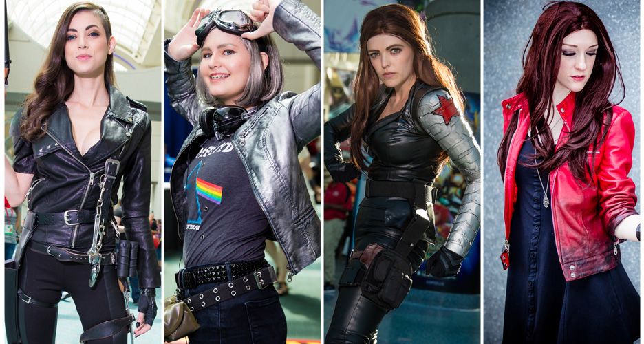 A Cat Fight Between the Ladies  sc 1 st  Black Leather Jackets & Comic Con Costumes