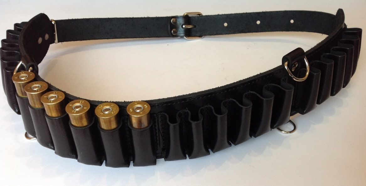 Leather Shotgun Shell Cartridge Belt