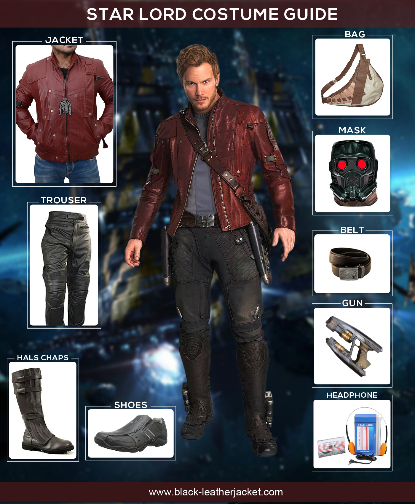 Guardians of The Galaxy Costume of Star Lord