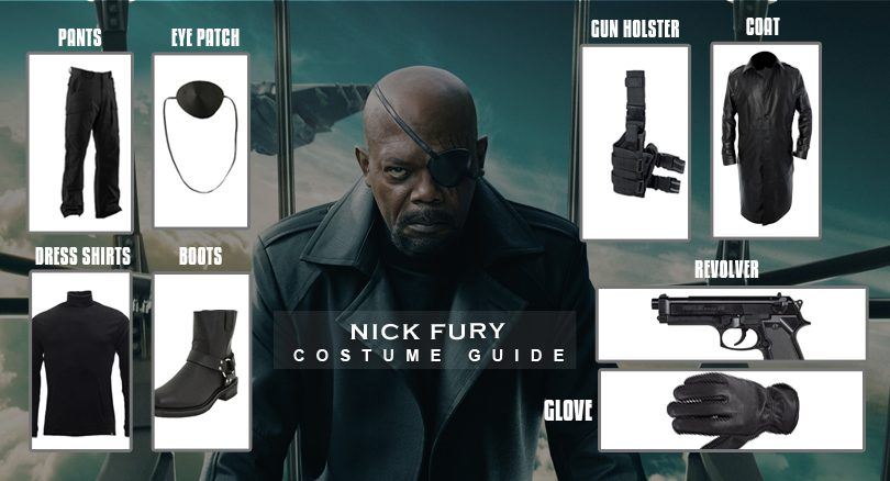 b902634fb33 Nick Fury Costume from the streets of Captain America The Winter Soldier  Movie
