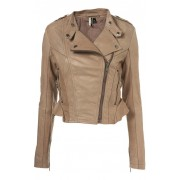 Amy Pond Doctor Who Beige Leather Jacket
