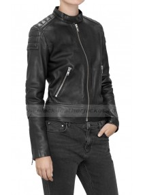 Jenna Coleman Doctor Who Clara Oswald Leather Jacket