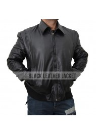 Faster The Rock Dwayne Johnson Black Leather Jacket