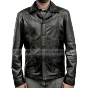 Brad Pitt Killing Them Softly Black Leather Jacket