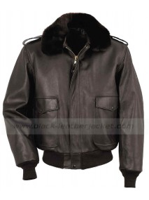 A2 Flight Brown Leather Bomber Jacket