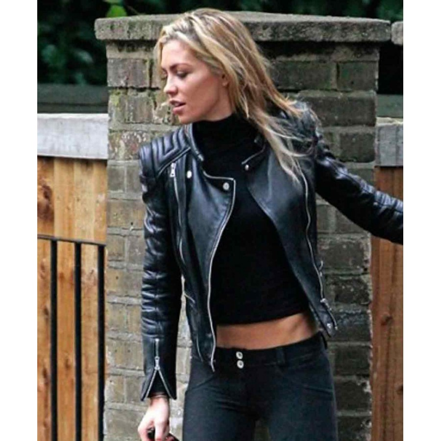Abbey Clancy Jacket | Ladies Black Leather Jacket