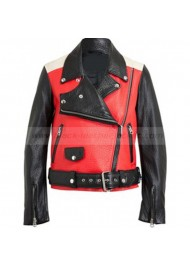 Acne Studios Red Motorcycle Demi Lovato Leather Jacket