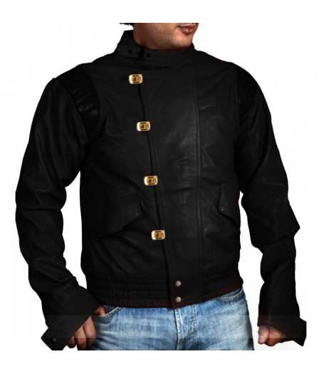 Akira Shotaro Kaneda Motorcycle Black Leather Capsule Jacket