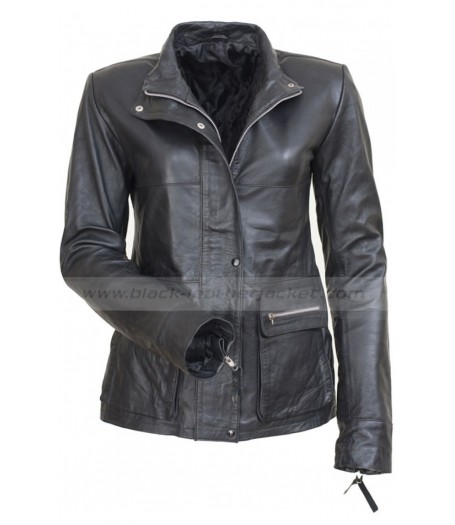 Anna Alice Braga I Am Legend Black Leather Jacket