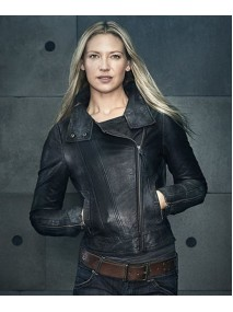 Anna Torv Fringe TV Series Olivia Dunham Black Leather Jacket