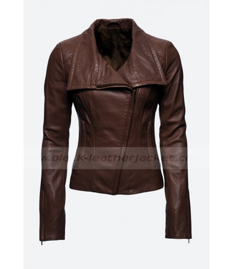 Audrey Marie Anderson Arrow Lyla Michaels Leather Jacket