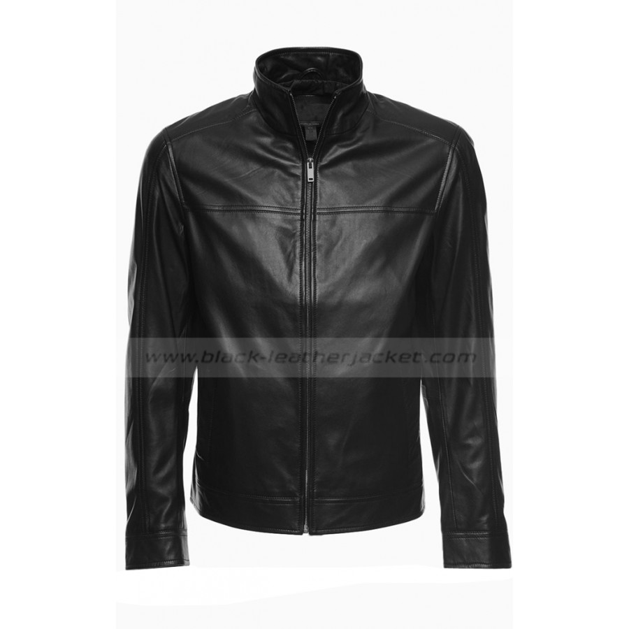 d128c4912e5 Stephen Amell Arrow Oliver Queen Black Leather Jacket