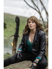 Lucy Lawless Ash vs Evil Dead Ruby Leather Jacket