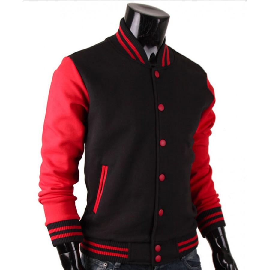 Red And Black Varsity Jacket | Baseball Letterman Jacket