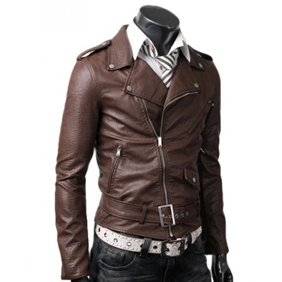 c280c33a Belted Rider Light Brown Leather Jacket | Slim Fitted Jacket