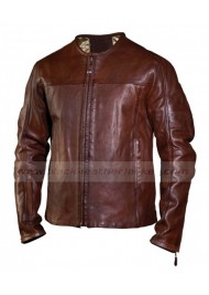 Roland Sands Barfly Brown Leather Biker Jacket
