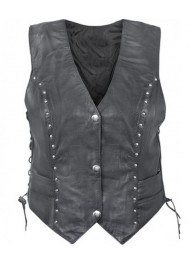 Biker Harley Davidson Womens Leather Vest