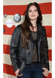 Lana Del Rey Black Leather Biker Jacket