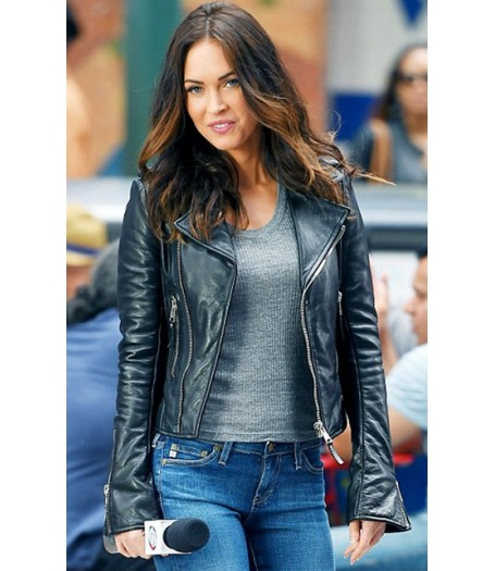 Megan Fox Black Leather Biker Jacket