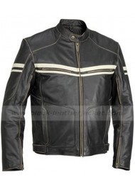 Biker River Road Hoodlum Vintage Leather Jacket