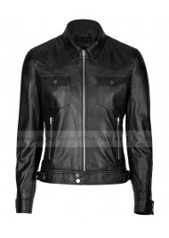 Womens Soft Black Leather Jacket
