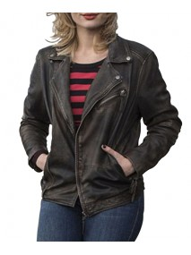 Rosalie Thomass Biker Style Black Leather Jacket