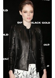 Biker Style Coco Rocha Black Leather Jacket