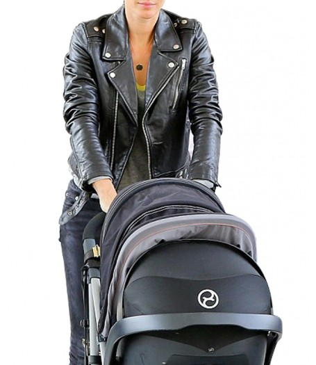 Biker Style Gisele Bundchen Black Leather Jacket