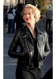 Biker Style Helen Mirren Leather Jacket