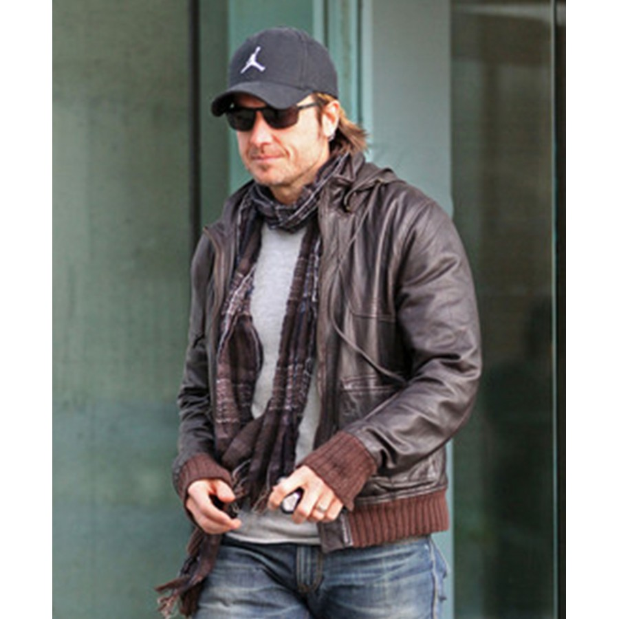 Keith Urban Leather Jacket | Biker Style Brown Jacket