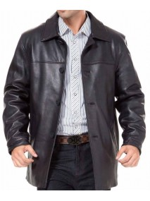 Black Car Coat for Mens