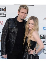 Chad Kroeger Black Leather Jacket