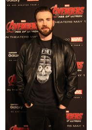 Avengers Age Of Ultron Premier Chris Evans Leather Jacket
