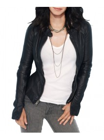 Courteney Cox Black Leather Jacket