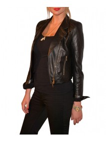 Kate Upton Black Faux Leather Jacket