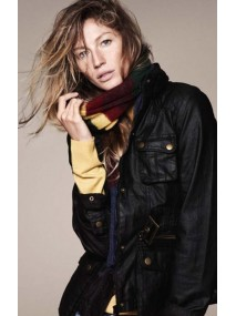 Gisele Bundchen Black Leather Jacket