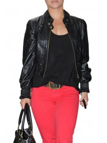 Hayden Panettiere Black Leather Jacket