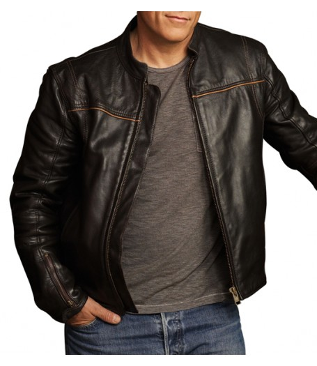 Christopher Chance Human Target Black Leather Jacket