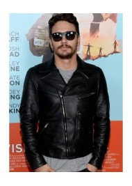 James Franco Black Leather Biker Jacket