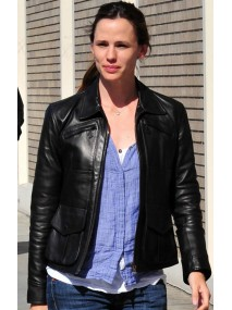 Jennifer Garner Black Leather Jacket