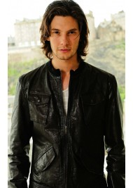 Ben Barnes Black Leather Jacket