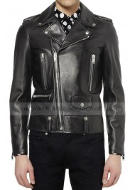 Bruno Mars Black Leather Jacket