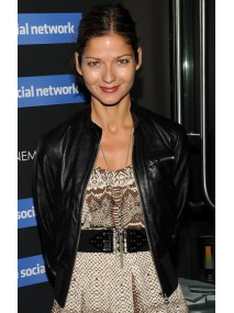Jill Hennessy Black Leather Jacket