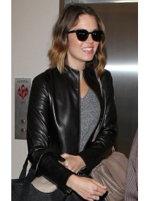 Mandy Moore Black Leather Jacket