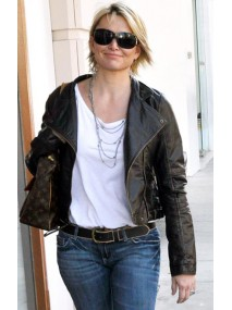 Michelle Pfeiffer Black Leather Jacket