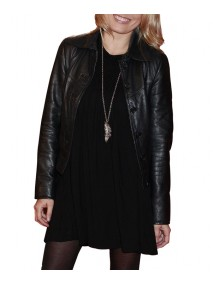Nova Meierhenrich Black Leather Jacket