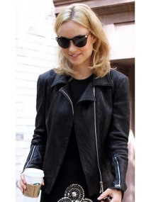 Olivia Wilde Black Leather Jacket